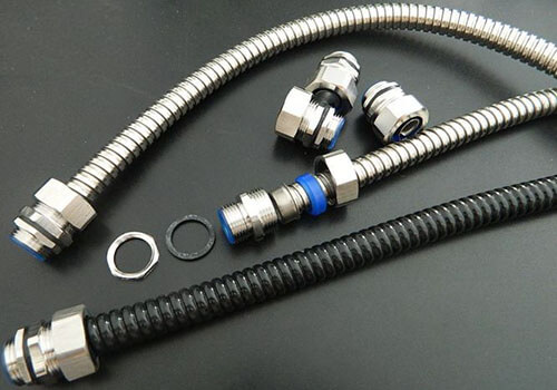 stainless flexible conduit with connectors show