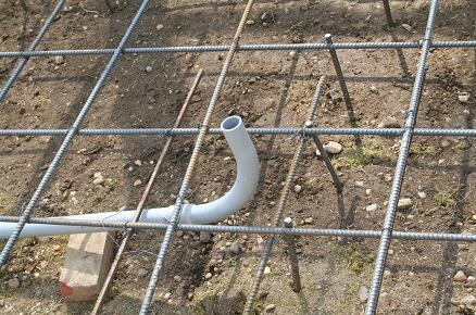 Do not forget the electrical conduit within concrete