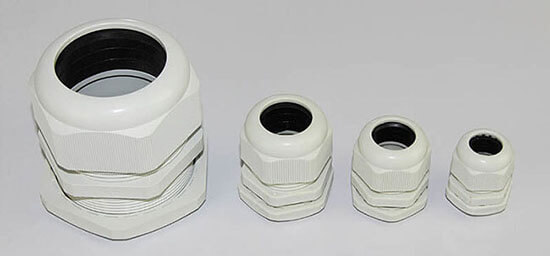 white waterproof cable glands