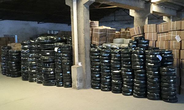 PVC Coated GI Flexible Pipe Warehouse Package