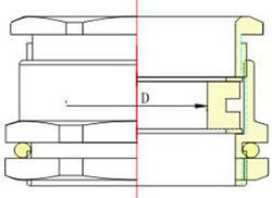 Single Compression Cable Gland Structure