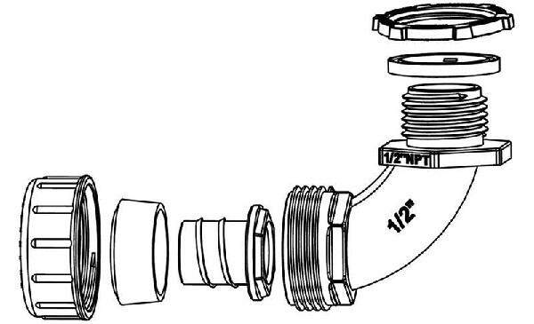Non-metallic Liquid Tight Conduit Fittings
