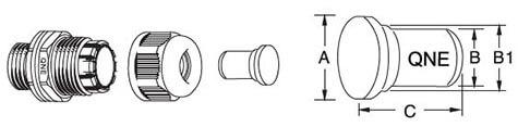 nylon cable gland plugs for single hole cable gland