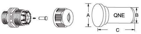 nylon cable gland plugs for multiple hole cable gland