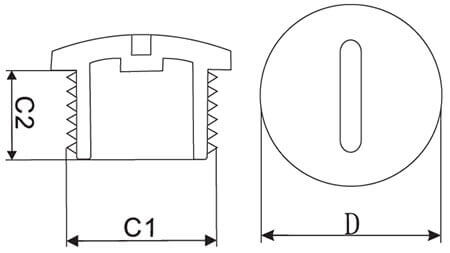 cable gland screw plugs structure
