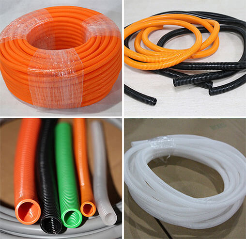 Colored Wire Loom Split Loom Tubing White Black Orange