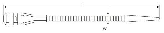 double lock zip ties structure