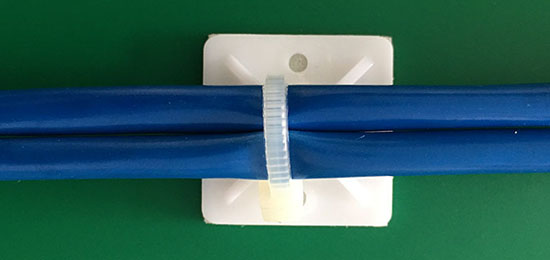 self adhesive cable tie mounts application
