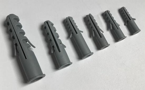 grey plastic wall plug