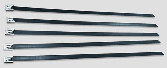 PVC coated stainless steel cable ties details