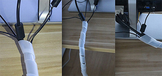 spiral cable wrap usage