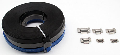 PVC coated stainless steel strapping with seals
