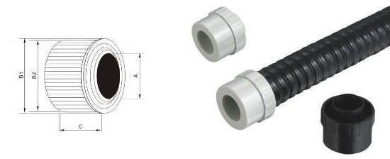 nylon metal conduit caps structure