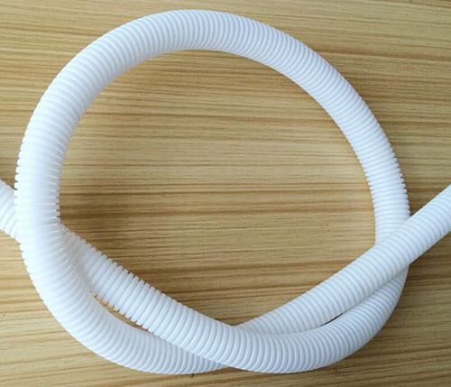 white flexible conduit details